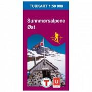 Nordeca Wander-Outdoorkarte: Sunnmørsalpene øst 1/50 Carta escursionistica