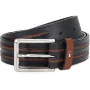 Tommy Hilfiger Men Casual Tan, Blue Genuine Leather Belt