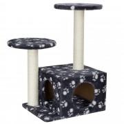 PremiumXL - [en.casa] Grebalica za mačke - siva sa bijelim šapama