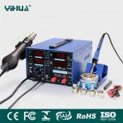 YIHUA 853D 2A USB - професионална станция за запояване за ремонт на мобилни устройства и електроника