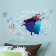 Disney Frozen Muursticker Elsa, Anna & Olaf (RoomMates)