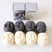 Caomaru Funny Face Ball Squishy Toys Stress Reliever Best Gift Rich Funny Facial Expressions