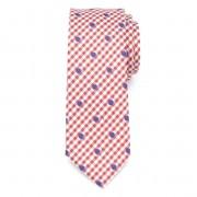 pentru bărbați îngust cravată (model 1265) 7970 cu alb-roșu zaruri