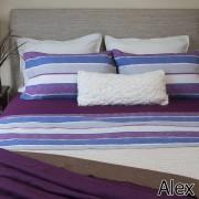 Juego De Sabanas Twin 1 Mt 180 Hilos 100% Algodon Arcoiris Alex