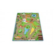 Giant Kids' Play Mat w/ 4 Pull-Back Toy Cars - 2 Designs!