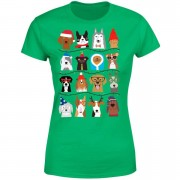 The Christmas Collection Merry Dogmas Women's T-Shirt - Kelly Green - L - Kelly Green