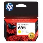 HP Originale DeskJet Ink Advantage 6525 Cartuccia stampante (655 / CZ 112 AE) giallo, 600 pagine, 1.74 cent per pagina