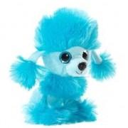 Merkloos Pluche poedel honden knuffeltje blauw 15 cm - Knuffeldier