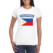 Bellatio Decorations Filipijnse vlag shirt wit dames