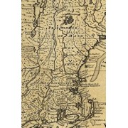 A new and accurate map of NJ, PA, NY and New England, with the adjacent countries: A Poetose Notebook / Journal / Diary (50 pages/25 sheets), Paperback/Poetose Press