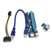 PCIe 16x to 1x PCIe Riser Cable card adapter v006c with Capacitor / Voltage Regulator