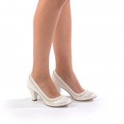 Pantofi de mireasa cu toc mic Bianca (Marime: 36 EU)