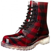 Dirty Laundry by Chinese Laundry Women's Roadie Rain Boot, Red Plaid Pvc, 7 M US