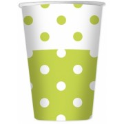 Pahare 470 ml Pois Verde 6 buc/Set Big Party