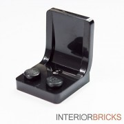 Interior Bricks LEGO Bulk Parts: Classic Minifigure Seat - BLACK :: New Loose