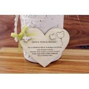 Invitatie inima lemn obechi