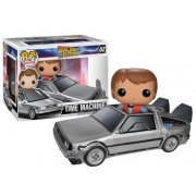 Funko Pop Movie Vinyl Back to the Future Delorean Action Figure, Multi Color