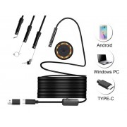 NTR ECAM11 Vízálló endoszkóp kamera 640x480 5,5mm átmérő 6LED USB-C/microUSB/USB 7m