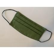 Textil, mosható, 2 rétegű szájmaszk - Kekizöld