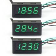 3v1 Digitálny voltmeter,teplomer a hodiny