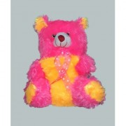 pink yellow colour Soft Teddy Bear 38cm.-1