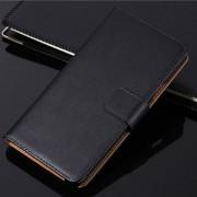 Black Samsung Galaxy J7 Pro (2017) Genuine Leather Wallet Case