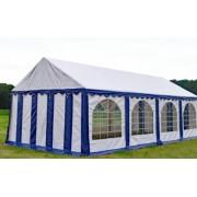 Premium Partytent PVC 4x8x2 mtr in Wit-Blauw