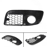 Tradico® Left Front Bumper Fog Lamp Lights Grill Grille for VW Golf MK5 GTI 2006-2008 B5