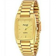 Hwt Rectangle and Round Gold Plated Men's Watches Combo