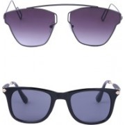Amour-Propre Wayfarer, Over-sized Sunglasses(Multicolor)