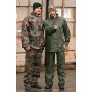 Komplet przeciwdeszczowy kurtka i spodnie kamuflaż