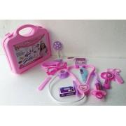 HEER Doctor Set Doctor Nurse Family Oprated Set Medical Suitcasetoy For Kids (Pink)