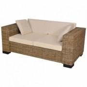 Koohashop Set canapea de 2 locuri din poliratan 7 piese
