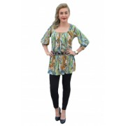 Bluza cazual tinereasca maneca trei-sferturi model lung D and J Exclusive Multicolor 40 EU