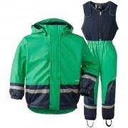 Didriksons Boardman bright green fleecefodrat regnset (Stl: 80, 90, 100, 110, 120, 130, )