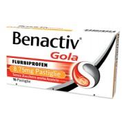 Reckitt Benckiser Benactiv Gola Arancia Senza Zucchero 16 Pastiglie