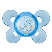 Suzeta Chicco silicon Physio Comfort forma ortodontica 0-6 luni bleu