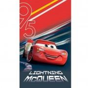 Disney Katoenen strandlaken met Cars Lightning McQueen print 70 x120 cm