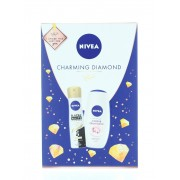 Nivea Caseta femei:Gel de dus+Spray deodorant 250+150 ml Charming Diamond