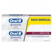 Oral-b 3D WHITE LUXE BRILLO SEDUCTOR DENTIFRICO SET 2 x 75 ml 2 pz