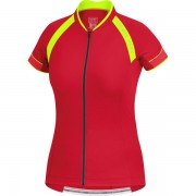 Gore Power 3.0 Lady Jersey - rich red/ neon yellow - M
