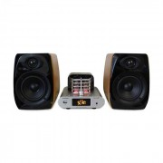Madison MAD-TA15BT Sistema de audio vintage con amplificador a válvulas, 2 altavoces de 30 W RMS, Bluetooth y USB