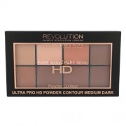 Makeup Revolution London Ultra Pro HD Powder Contour Palette 20g Грим за Жени Нюанс - Medium Dark
