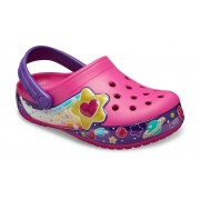 Crocs Fun Lab Galactic Hearts Klompen Kinder Fuchsia 23