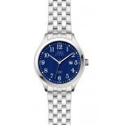 Ocelové moderní náramkové hodinky J1038.2 - 5ATM modrý číselník