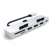 Satechi Redukce / adaptér - Satechi, Aluminum USB-C CLAMP PRO Hub Silver