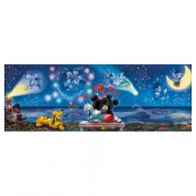 Puzzle 1000 Mickey y Minnie Panoramico - Clementoni