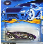 Hot Wheels #2001-124 Lamborghini Diablo 3-spoke Wheels 1:64 Scale Collectible Collector Die Cast Car