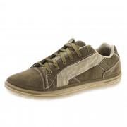 SKECHERS Sneaker in pelle scamosciata e tessuto con soletta in memory foam