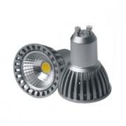 LED lámpa , égő , szpot , GU10 foglalat , 4 Watt , 50° , hideg fehér